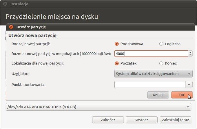 Screen 5 z instalacji