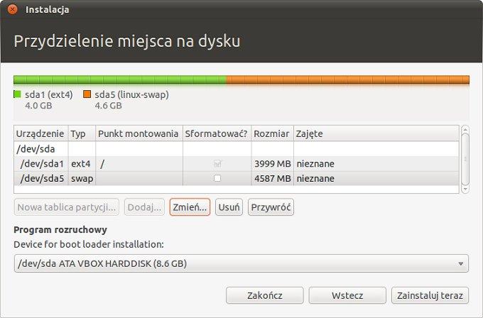 Screen 7 z instalacji
