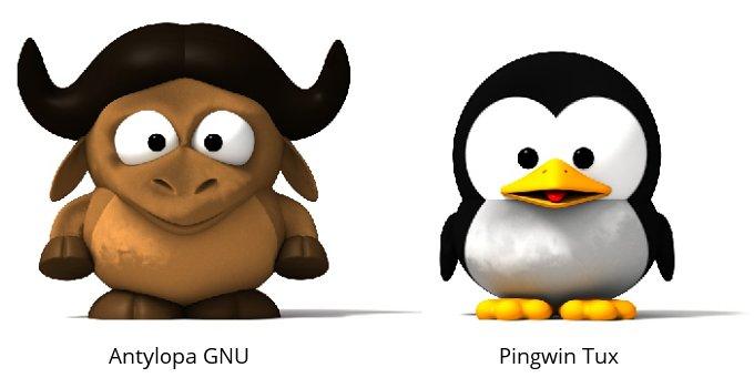 GNU i Tux